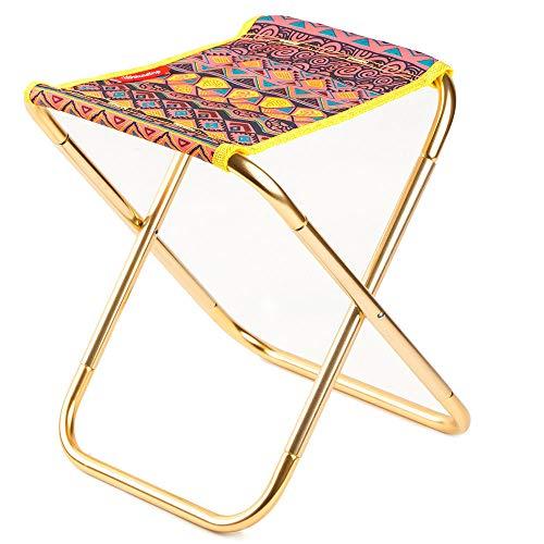 Yazi Dan Camping Moon Chair Cómodo Camping Silla Plegable Silla de jardín Ajustable | Ligero construcción | Funda Transpirable | Silla Plegable Silla de Camping Muebles de Jardín Aluminio