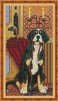 クロスステッチ キット 刺繍 手芸用品かわいい犬11CT 手芸 Cross Stitch 図柄印刷 初心者 刺繍糸 針 布 家の装飾 壁の装飾(42x53cm)