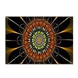 NHhuai Alfombras Salon Grandes - Alfombra habitación Dormitorio Lavables Comedor Alfombra con Estampado de Flores Creativo y Fresco