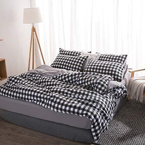 SHJIA Einfaches Und Stilvolles Einfaches Flaches Bettlaken, Doppelseitiges,...