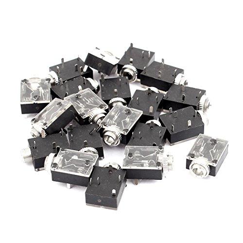 sourcingmap® 20Stk Kunststoff PCB Plattenmontage 5 Klemme Buchse 3.5mm Kopfhörer Audio Sockel de
