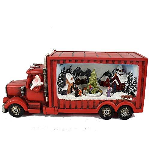 Aurora Store Camioncino Villaggio di Natale innevato Camion Anni '50 Paesaggio con Movimento, Luci...