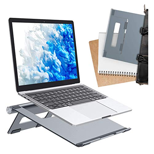 Adjustable Laptop Stand for Desk, Portable Laptop Stand, Ergonomic Cooling Computer Stand Laptop Holder Riser Compatible with All laptops up to 17inch - Silver