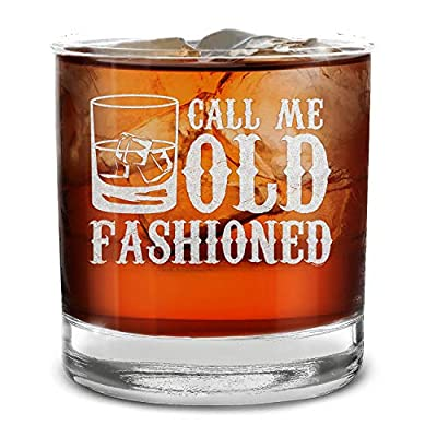 Shop4ever Call Me Old Fashioned Engraved Whiskey Glass