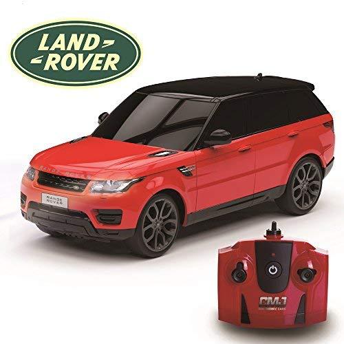 CMJ RC Cars ™ Range Rover Sport Coche de control remoto con licencia oficial Coche 1:24 Escala Luces de trabajo 2.4Ghz Rojo