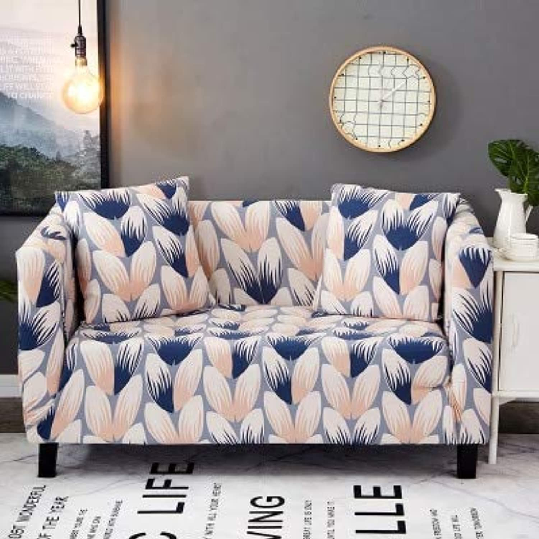 Farmerly WLIARLEO Sofa-slipcovers Tight Wrap All-Inclusive Slip-Resistant Universal Corner Sofa Cover Stretch Sofa Cover Anti-Mite   Pattern 7, Single seat 90-140cm