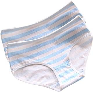 Patiky Women Girls Stripe Underwear Pants Cotton Briefs Panties for Girl 2 Pack