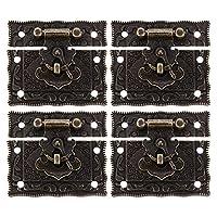 YARNOW 4個ロッククラスプバックルラッチアンティークスタイルラッチハスプ閉鎖木製ジュエリーボックスキャビネット装飾スーツケースボックス6。8X5。8センチメートル