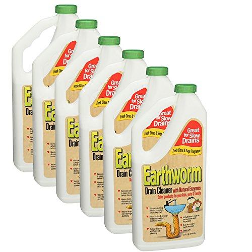 Earthworm - Familie Sicheres Abfluss-Reinigungsmittel - 32 Unze.