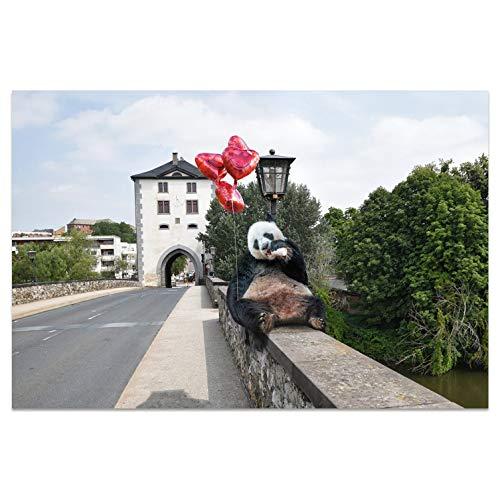 Ansichtkaarten +++ DIN A6 LIMBURG motief: Panda I stadhoeken I Hoogwaardige kaarten I Leven & Momenten grappig I Ansichtkaarten Postcrossing I Geschenk I Geschenkidee