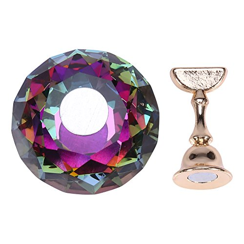 Nail Tips Stand Holder, Nail Tip Practice Stand Magnetic Nail Tip Practice Stand Base Alloy Holder Nail Art Display Stand Manucure Tool(C)