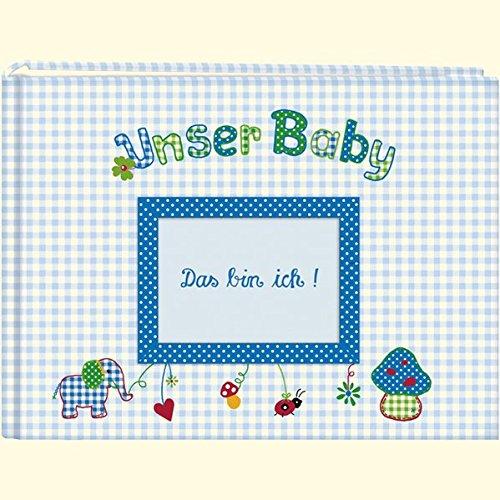 Unser Baby (hellblau): Großes Stoff-Fotoalbum (Große Fotoalben)