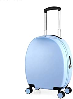 NSHUN Trolley Case, Small Fresh Universal Wheel Suitcase, Child Password Boarding, Male and Female Student Suitcase (Color : Blue)