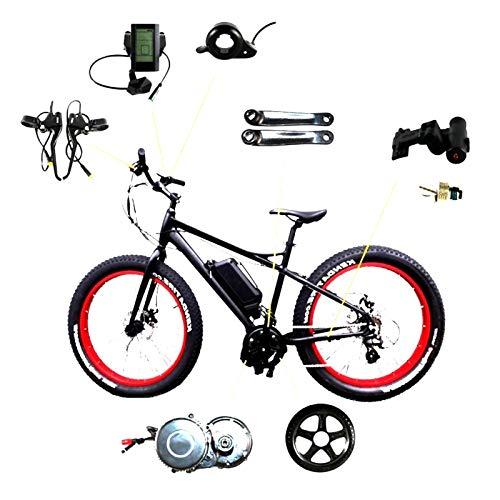 36V 250W Mediados Drive Bicicleta eléctrica del Motor E-Bici Kit de conversión de Mediados de Motor for Bicicleta de montaña Bicicleta de Carretera con la Pantalla del Medio Motor