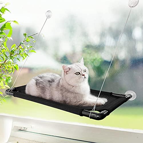 ELCM Cama para Gatos Ventana Hamaca para Gatos Ventana Cama para Gatos Percha para Ventana Cama para Ventana para Gatos con potentes ventosas de hasta 55 Libras