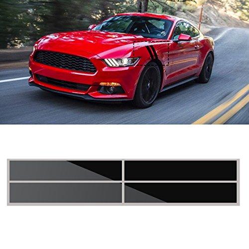 JenNiFer 56X10 cm Kotflügel Hash Stripes Decals Graphise Auto Vinyl Aufkleber Für Ford Mustang 2015-2016