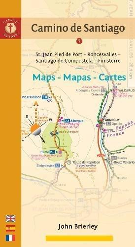 Camino de Santiago. Mapas, Maps, Cartes. St Jean, Roncesvalles, Santiago, Finisterre. Camino francés. Español, English, Français. Camino Guides. ... to Finisterre via Santiago De Compostela