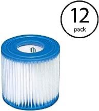 Intex FBA_B3706 Replacement 29007E Swimming Pool Filter Cartridge H-12 Pack, White