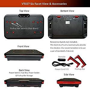 VT027 Vibration Plate - Pivotal Oscillation | Frequency 5-14Hz | Amplitude 10mm | Patented Mechanics | Premium Materials | Detachable Push-up Bars | Powerful Large Platform in Ultra-Thin Machine Body