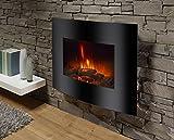 El Fuego Aarau Elektrokamin mit täuschend echtem Flammeneffekt, zur Wandmontage geeignet, 1800 W, 230 V - 3