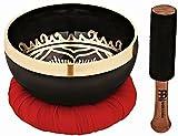 Meinl Sonic Energy SB-OM-300 Singing Mallet, Cushion Ring, 11cm, OM Series 4.25' Bowl with Black Display Box, inch