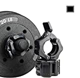1 Inch Quick Release Dumbbell Clamps 1'' Standard Barbell ABS Spinlock Weights Bar Plate Lock Collars Clips Great for Women Strongman Gym Crossfit Wrokout Fitness Training(Black)