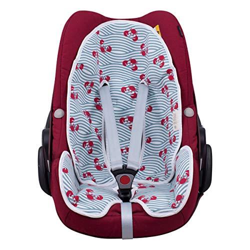 JANABEBE Colchoneta universal para silla de coche (Crabby)