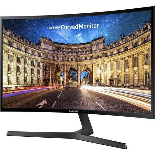 2019 Samsung 390 Series Curved 27' Full HD 1080p 16:9 LED-Backlit Slim AMD FreeSync Monitor, 60Hz, 4ms, 178°/178°, 250 cd/m², HDMI, VESA Mount, Black