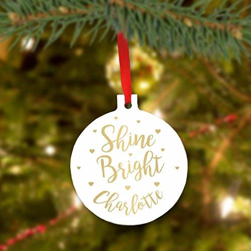 Shine Bright personnalisé Décoration de Sapin de Noël
