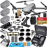 DJI Mavic 2 ZOOM Drone Quadcopter Fly More Kit Combo Bundle with 3 Batteries, Hard Rugged Case, ND and Adjustable Polarizer Filter Set and Must Have Accessories (12 Items)