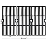 Hisencn Grill Grates Replacement for Charbroil Advantage 463343015, 463344015, 463344116, Kenmore, Broil King and Others Gas Grill Models, G467-0002-W1, 16 15/16' Cast Iron Cooking Grids, 3-Pack