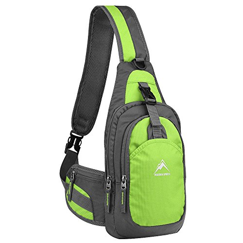 Maleden Schultertasche, Rucksack, Unbalance-Tasche, Fahrradrucksack, kratzfest, wasserdicht, Umhängetasche für Outdoor-Aktivitäten, Radfahren, Laufen, Wandern, Klettern und Reisen, grün