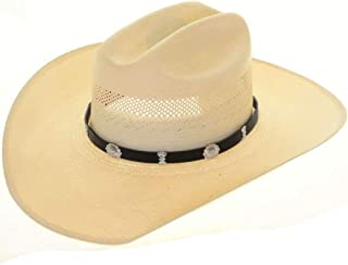 Sterling Concho Leather Hat Band Navajo Hand Hammered 1700