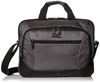 Kenneth Cole Reaction Castlerock Compact Top Zip 15.6  Laptop Briefcase / Tablet Bag Charcoal