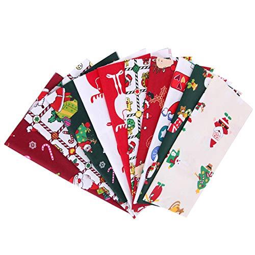 5/10 piezas de algodón puro para manualidades, costura, vacaciones, decoración de Navidad, regalo de vacaciones
