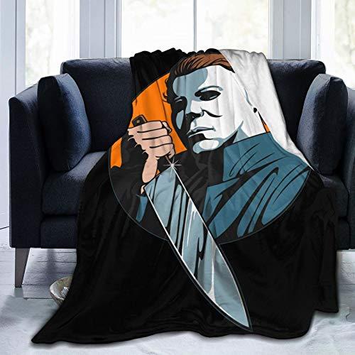 Wakaltk Michael-Myers Horror Halloween Throw Blanket Microfiber Lightweight Fluffy Cozy Blanket for Couch Sofa Bed 50' X40