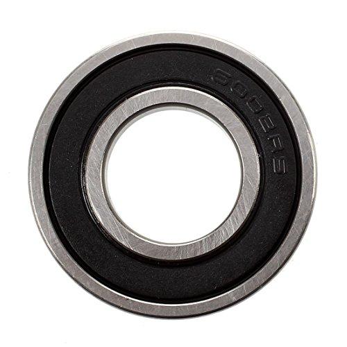 Cikuso 15mm x 32mm x 9mm Breite Einzelne Reihe Tiefe Rille Versiegelt Radial Kugellager 6002RS