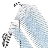 Baban Rainfall Handheld Shower Head Combo, Stainless Steel