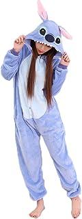 comprar comparacion JunYito Pijama Pikachu Animale Disfraz Stitch Traje Niños Niña Adulto Mujer Invierno Kigurumi Unicornio Cosplay Halloween ...