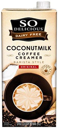So Delicious Dairy-Free Coconutmilk Creamer, Original Barista Style, 32 Ounce (Pack of 6) Plant-Based Vegan Coffee Creamer Alternative