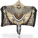 Mentmate Store Manta con capucha original de alta calidad, tamaño grande, apta para invierno, para niños y adultos, regalo blanco, 130 x 150 cm