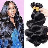 Body Wave Bundles (18 20 22 Inch) Brazilian Human Hair Bundles 9A Virgin Body Wave Hair Bundles 100% Unprocessed Weave Hair 3 Bundles Natural Black (18 20 22)