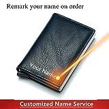 Portafoglio mini carta da visita di credito Portafoglio uomo donna Portafoglio intelligente Porta biglietti da visita Hasp Rfid Wallet-blue-1