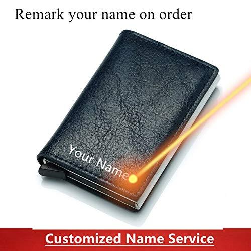 Credit Business Mini Card Wallet Man Women Smart Wallet Business Cardholder Hasp Rfid Wallet-blue-1