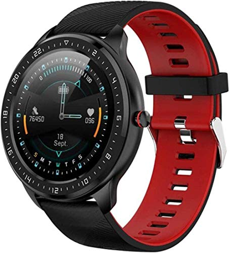 Reloj Inteligente Hombres s Pantalla Completa Pantalla Completa Reloj Inteligente Android IOS Apoyo Frecuencia Cardíaca Rastreador de Salud Smartwatch-B