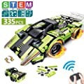 STEM Building Toys for Kids with 2-in-1 Remote Control Racer | Snap Together Engineering Kits Early Learning Racecar Building Blocks and Off-Road Best Gift for 6, 7,8 and 9?Year Old Boys and Girls