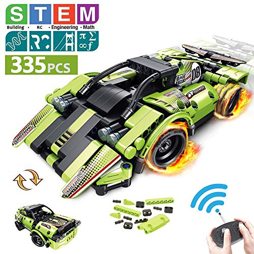 STEM Building Toys for Kids with 2in1 Remote Control Racer | Snap Together Engineering Kits Early Learning Racecar Building Blocks and OffRoad Best Gift for 6 78 and 9+Year Old Boys and Girls