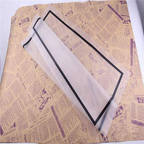 ZXL Transparante wikkel, Grensboeket Inpakpapier Geschikt voor Bruiloft Verjaardag Boeket Materiaal Papier 20 Vellen (Kleur : F, Maat : 58 * 58CM)