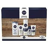 NIVEA MEN Complete Collection Giftset, Men's Toiletry Gift Set for Sensitive Skin, Conquer Skin Irritation with Our Men's Gift Set, 5 Item Men Gift Set