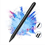 Pen for Surface, 1024 Sensitivity Pressure Fine Point Active Digital Stylus Pen for Microsoft Surface Book 2/1/go/pro/x/7/6/5/4/3/2017, Laptop 3/2/1,AAAA Battery & 3 Tips, Precise Writing/Drawing